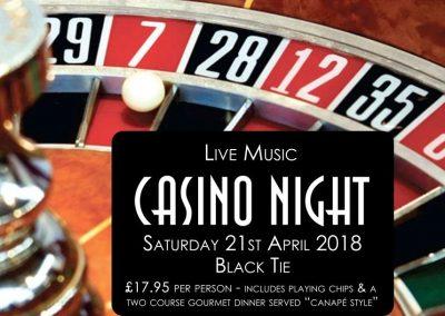 April 21st – Casino Night
